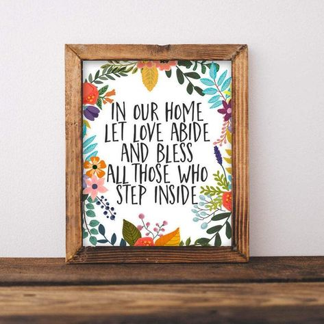 Home Printable Wall Art In Our Home Let Love Abide And Bless All