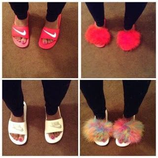feathers, fur, and shoes image