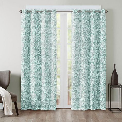 Barto Damask Printed Window Curtain