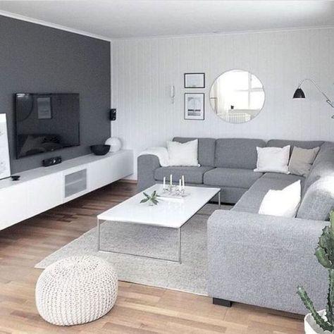47 idées de design de salon gris charmant pour votre appartement,  #appartement #charmant #design #idees #salon #votre