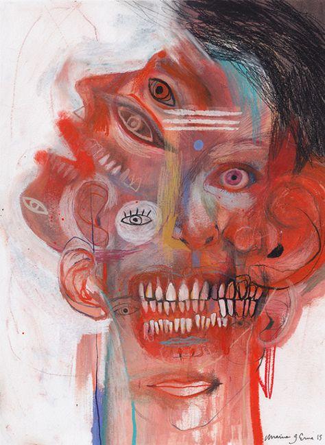 ⛓ - A Level Art Sketchbook - Bellatrix Lestrange, Arte Horror, Horror Art, A Level Art, Wow Art, Art Graphique, Psychedelic Art, Art Plastique, Surreal Art