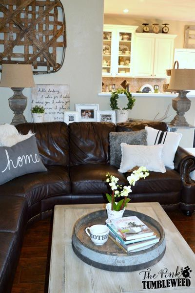 50 Rustic Living Room Ideas For 2020 Shutterfly Brown Living Room Decor Brown Living Room Brown Couch Living Room