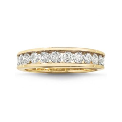 Buy 1 Ct T W Diamond 10k Wedding Band At Jcpenney Com Today And Get Your Penney S Worth Free Shipping Gold Wedding Band Diamond Wedding Bands Wedding Bands