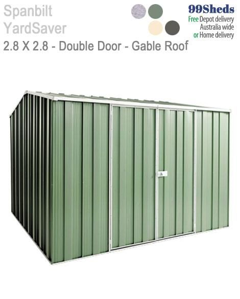 Yard Saver Maxistore G88 2 8m X 2 8m Double Door Roof Roof Repair Gable Roof