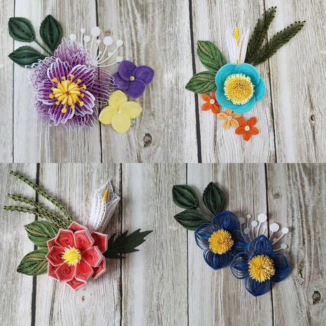 Quilling Flowers 4