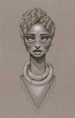 Art By Sara Golish African Art Afro Art Female Art