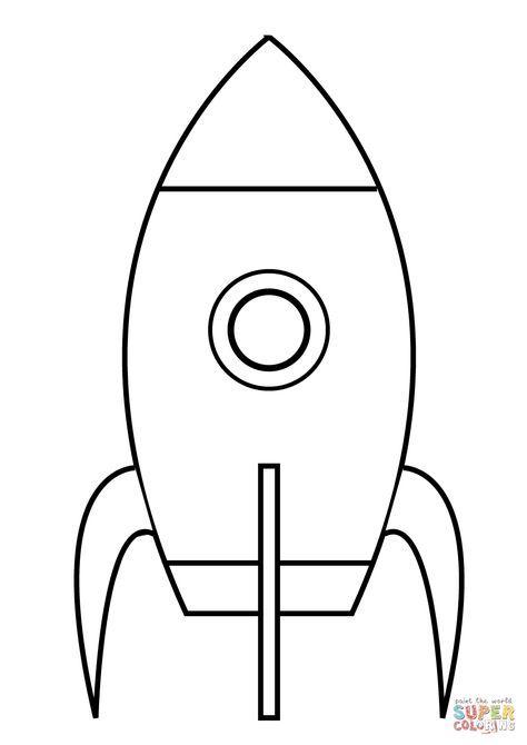 Ausmalbild Ganz Einfache Rakete Kategorien Raumschiffe