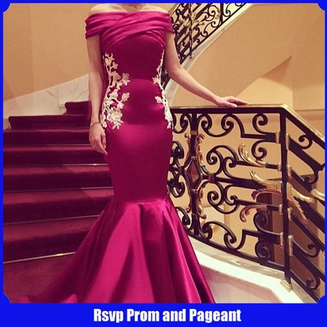 Long Evening Dress 2017 Boat Neck Cap Sleeve Mermaid Evening Gowns Applique  Floor Length Purple Formal Dress robe de soiree  b3f02a55fe1b