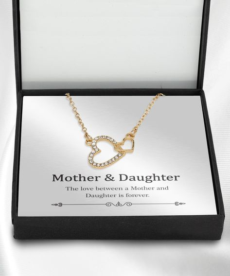 Necklace jewelry gift ideas about mother and daughter with message card gift