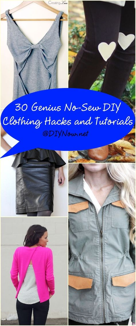 30 Genius No-Sew DIY Clothing Hacks and Tutorials – DIYNow.net