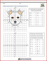 Coordinate Plane Worksheets Find And Plot 2 Actividades De Geometria El Plano Cartesiano Ejercicios De Simetria