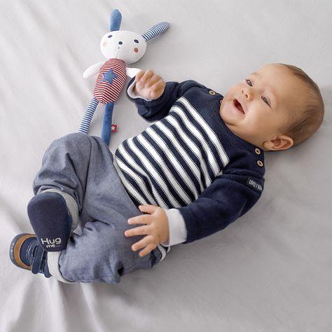 5987acbc0b3fb Tenue bébé garçon Tape à l œil pour le printemps - Pantalon gris