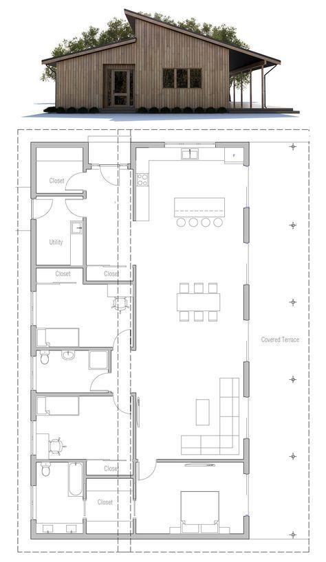 Modern House Plan Small House Plan Smallhouseplans Smallhouse Newhome Housedesign Narrow House Plans House Plans Farmhouse Narrow House
