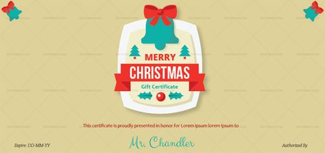 Download Christmas Bell Gift Certificate Template (#998E) MS WORD in Microsoft Word (DOC). Christmas Bell Gift Certificate Template (#998E) MS WORD is designed by expert designers and is completely customizable. Download, Edit  Print.