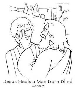 Jesus Heals Blind Man Coloring Page Sunday School Coloring
