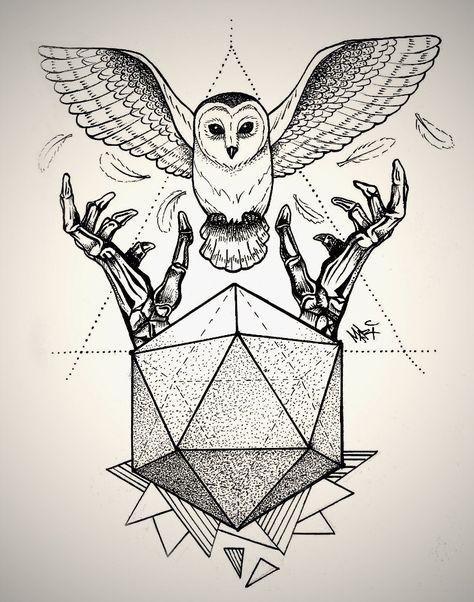 owl geometric drawing - Google Search