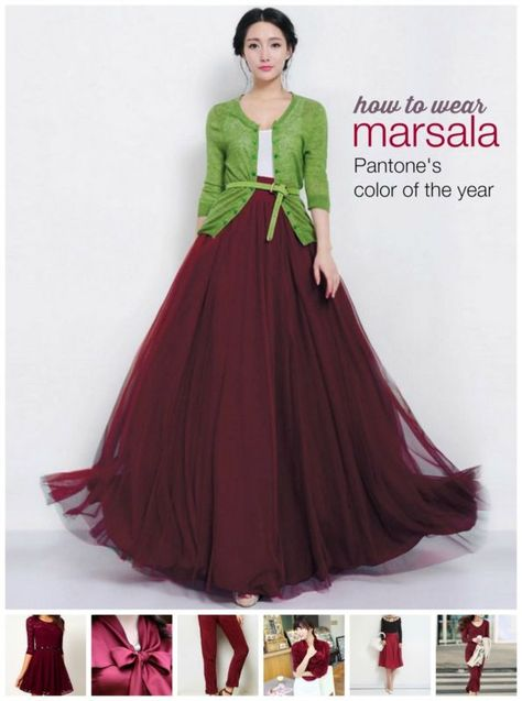 10 Stylish Ways to Wear Marsala: Pantone's 2015 Color of the Year