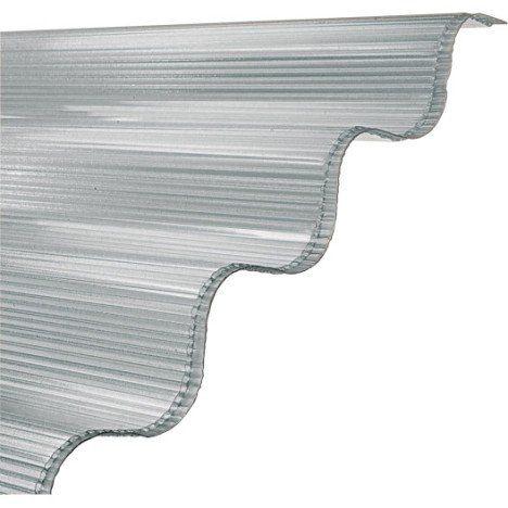 Plaque Ondule Polycarbonate Translucide L 0 92 X L 2 M Polycarbonate Plaque Polycarbonate Alveolaire Toiture