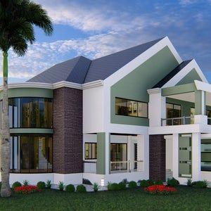 4 Bedroom House Plan Option 1 Beige 54x56 House Plan Etsy In 2021 Bedroom House Plans House Plans For Sale House Plans
