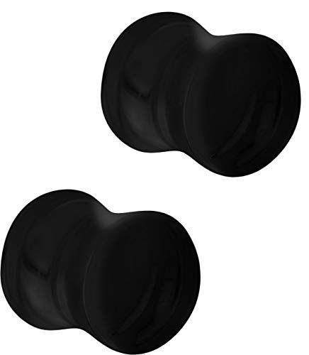 6mm-16mm HQLA 2 Pairs Black Natural Obsidian Stone//Ultra-Thin Silicone Ear Gauges Plugs Tunnels Expanders Stretcher Body Piercing Jewelry,2g-5//8 /…