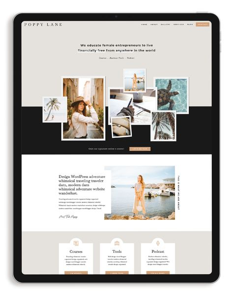 Poppy Lane Showit Template