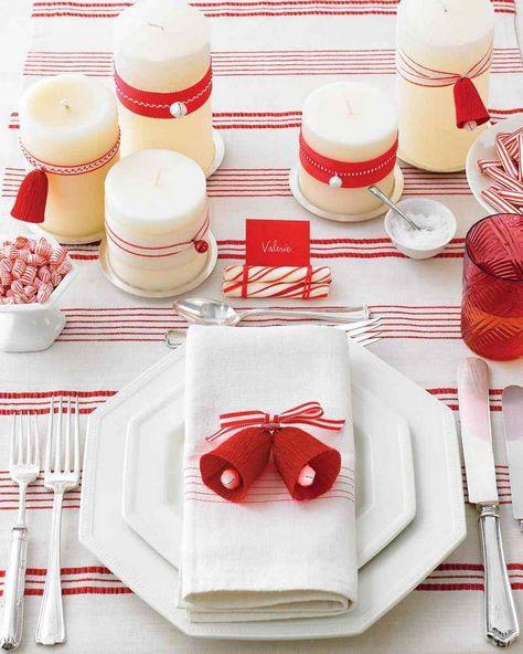 deco table noel rouge et blanc. Black Bedroom Furniture Sets. Home Design Ideas