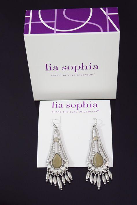 Lia Sophia Earrings- Silver Chandelier