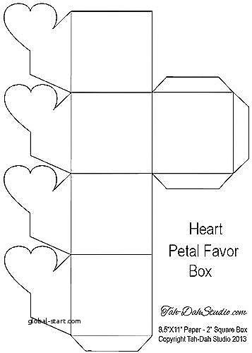 7 Best Of Free Printable Heart Gift Box Templates Box Template Gift Box Template Heart Gift Box