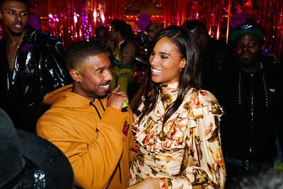 Michael B Jordan Cindy Bruna At The 6th Annual Met Gala After Party At Up Down Dxp Late Nights Michael B Jordan Micheal B Jordan Michael Bakari Jordan