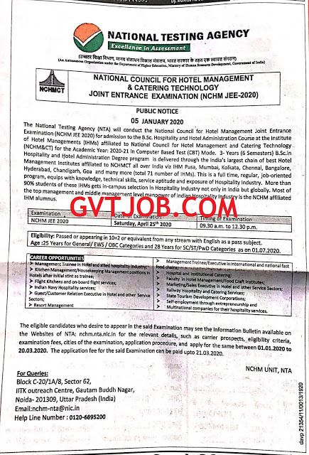 National Testing Agency Nta Nchm Jee 2020 National Testing Agency Nta Has Published An Advertisement For The Below Mentioned E How To Apply Education Management