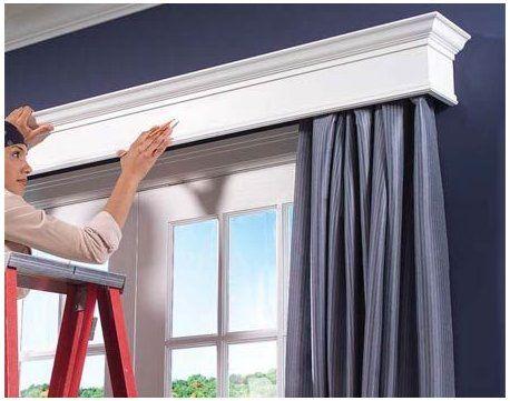 Pin By Sylvia Brea On Puertas In 2020 Window Cornices Diy Curtain Rods Sliding Door Curtains