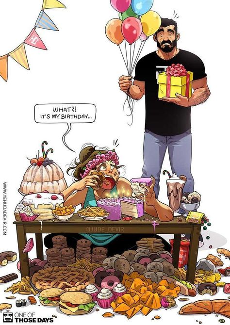 The comic artist is also the creator of a successful webcomics seriesOne of those days. The humorous comic series describes real-life moments from Yehuda and his wife, Maya's married life in a fun and relatable way  #comics #funnycomics #marriedlife