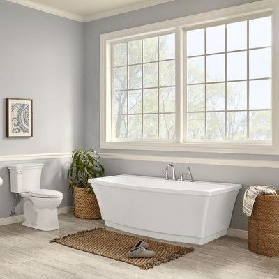 American Standard Everclean 60 In Acrylic Right Drain Rectangular Alcove Whirlpool Bathtub In White 2425lc Rho 020 The Home Depot