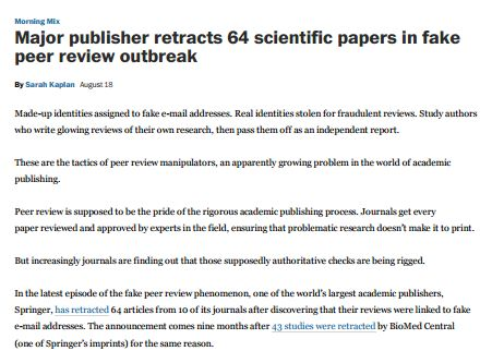 Papers with shorter titles get more citations \/ naturenews - scientific report