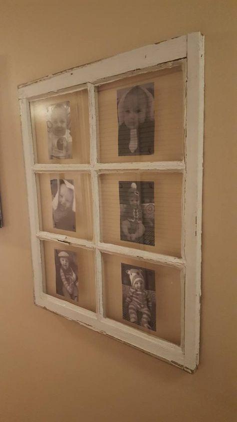 VINTAGE SASH ANTIQUE WOOD WINDOW PICTURE FRAME PINTEREST WEDDING 6 PANE 30x28