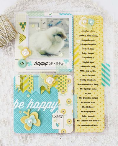 Be Happy Layout by Melissa Phillips for Papertrey Ink (April 2014)