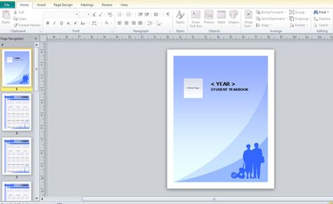 Yearbook Template For Microsoft Publisher Powerpoint Presentation Yearbook Template Booklet Template Publisher Templates