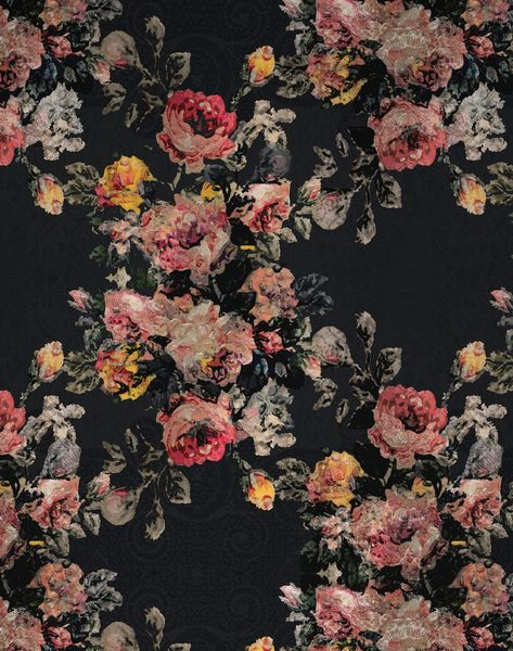 Bloom Garden, Black - Roll