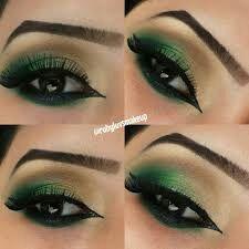 Gold and Green Smokey Eye Bridal Makeup Tutorial - Asian, Indian,  Pakistani, Arabic Contemporary Look. Gold and green jewel toned  contemporary smokey eye ...