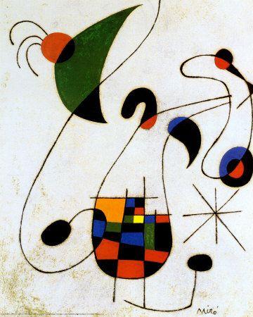 Melancholic Singer by Joan Miro