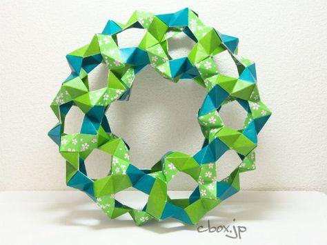 クリスマス 折り紙105枚で作るクリスマスリース 大人の折り紙インテリア クリスマス 折り紙 おりがみ クリスマス リース 折り紙 くす玉 花
