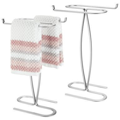 Mdesign Bathroom Countertop Guest Hand Towel Stand Holder Graphite Gray Steel Mdesign Bathroom Countertop G Guest Hand Towels Hand Towel Stand Hand Towels
