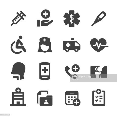 Healthcare And Medicine Icons Set Acme Series Illustration #Ad, , #Affiliate, #Icons, #Medicine, #Healthcare, #Set
