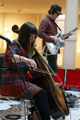 Community Showcase, September 2013. Visitors explored the Luce Center's thousands of art works while listening to sets by local bands Janel and Anthony, and Teen Mom, selected with the help of City Paper's managing editor, Jonathan L. Fischer.