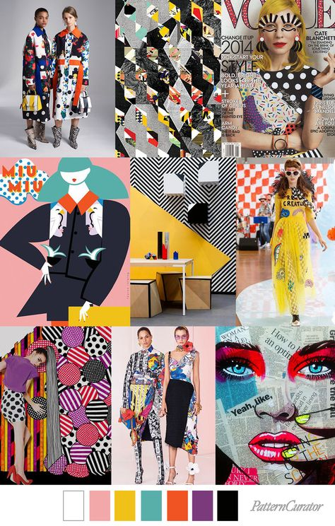 POP COLLAGE - color, print & pattern trend inspiration for Fall 2019 . POP COLLAGE - color, print & pattern trend inspiration for Fall 2019 by Pattern Curator. Pattern Curator is a trend service for color, print and pattern inspiration.