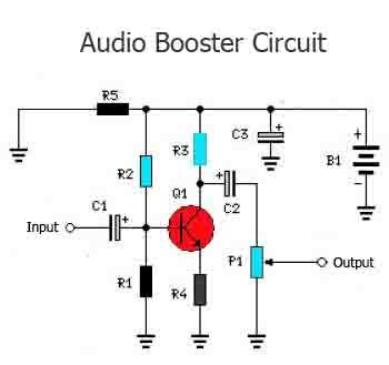 audio booster circuit tone booster electro pinterest circuits rh pinterest com Types of Schematic Diagrams Basic Electrical Schematic Diagrams