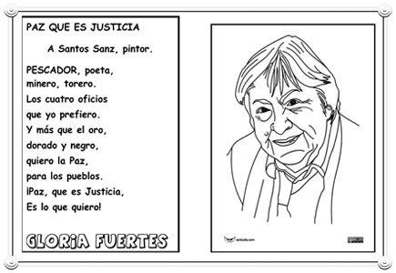 Gloria Fuertes Magica Poeta De La Paz Y La Justicia Actividades Ludicas Educativas Gloria Fuertes Paz Dia De La Paz
