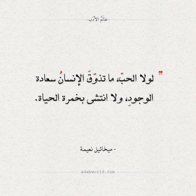 أقوال ميخائيل نعيمة لولا الحب عالم الأدب Funy Quotes Love Quotes Wallpaper Real Life Quotes