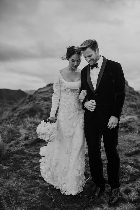 Nicole Warne of Gary Pepper Girl Had a Wedding at the Edge of the Earth in New Zealand