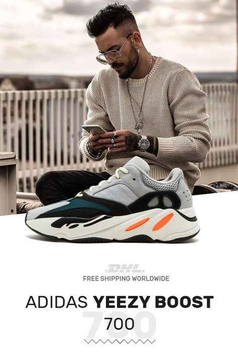 Buy mens size Adidas Yeezy Boost 700 Wave Runner with